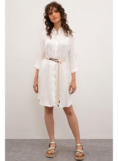 U.S. Polo Assn. U.S. Polo Assn. Beyaz Elbise Beyaz